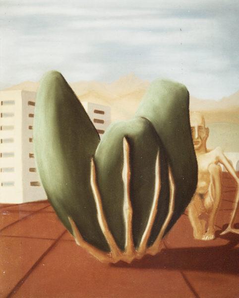 """""""Composition"""", Huile sur toile, 60x50 cm, 1946"""