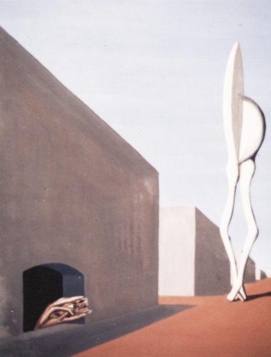 """""""Mains regardant les jambes"""", huile sur papier, 42x33 cm, 1946"""