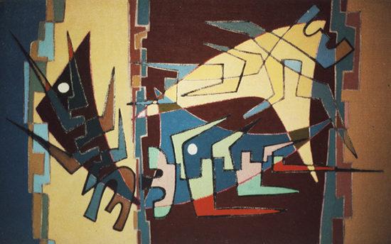 """""""La colère"""", huile sur toile, 27x46 cm, 1954"""