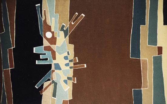 """""""Sans titre"""", huile sur toile, 27x46 cm, 1954"""