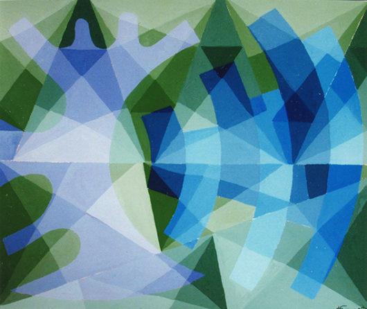 """""""Le fond du Bosphore"""", 41x32 cm, 1978, collection particulière"""