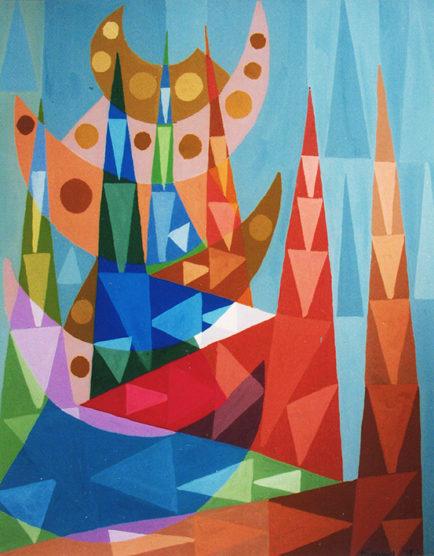 """Cathédrales"", 41x32 cm, 1978"