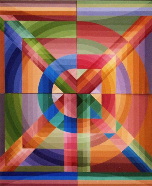"""""""D à l'envers"""", huile sur panneau, 122x100 cm, 1971"""