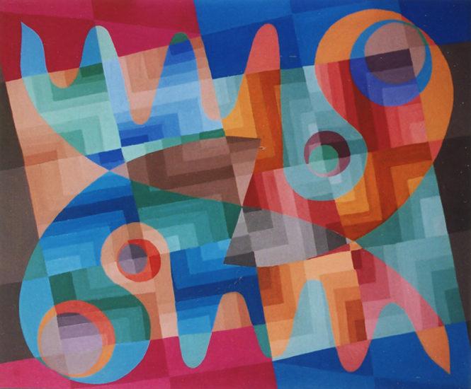 """""""Complémentarité"""", huile sur panneau, 51x60 cm, 1976"""