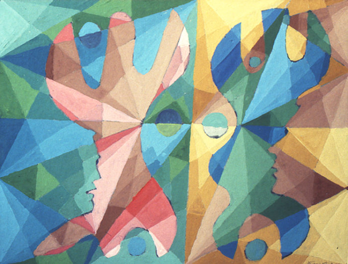 """""""Crochets"""", gouache, 36x45 cm, 2000, collection particulière"""