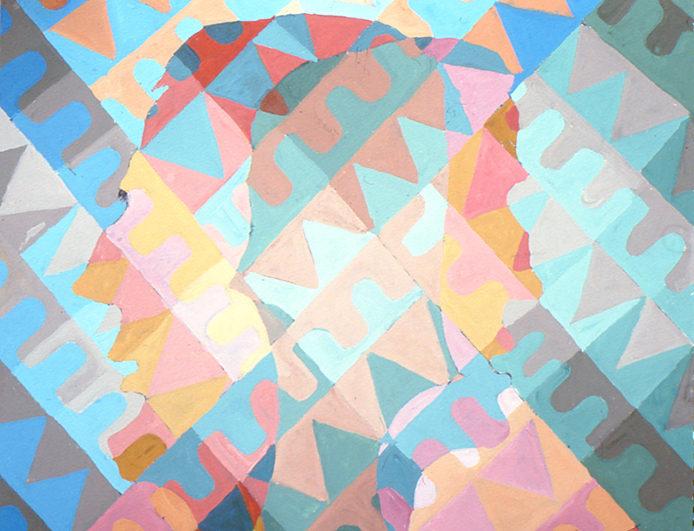 """""""Sans titre"""", gouache, 36x45 cm, 2002"""