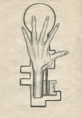 Crayon sur papier, 20,5x12 cm, 1941