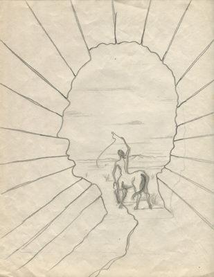 Crayon sur papier, 27x21, 1946