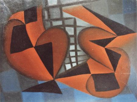 """""""Sans titre"""", huile sur carton, 38x46 cm, 1946"""