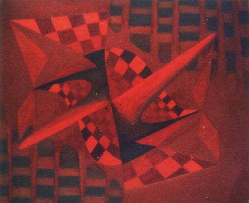 """""""À Paul Klee 1"""", huile sur toile, 46x33 cm, 1946"""